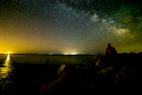 Milky Way Over Fishermen - Orient Point, Long Island, NY