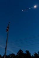 Great American Eclipse Over Old Glory - Total Solar Eclipse, 17-08-21