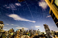 Star Trails Over NYC With A Perseid Meteor