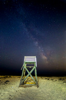 Milky Way Over Lifeguard Chair - Robert Moses Beach, Long Island, NY